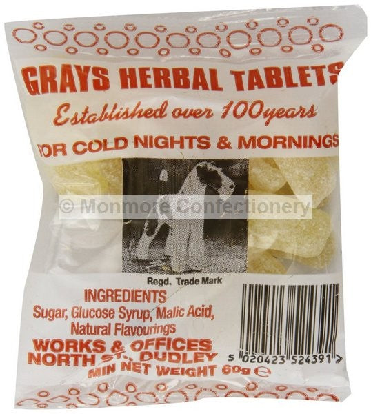 *Gray's Herbal Tablets Bag 30*60g [Regular Stock], Bagged Candy, Gray's, [variant_title],HP Imports British Wholesale Distribution