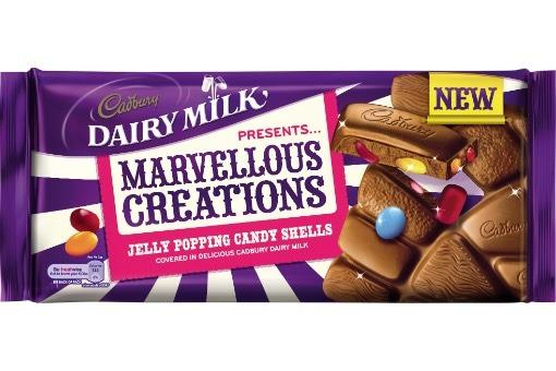 Cadbury Dairy Milk Marvelous Creations Jelly Popping Candy 19x180g [Pre-Order Stock], Cadbury, Chocolate Bar/Bag- HP Imports