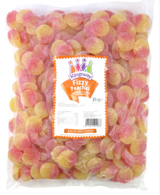 Kingsway Fizzy Peaches 3kg [Regular Stock], Kingsway, Bulk Candy- HP Imports