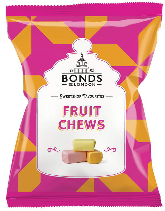 Bonds Fruit Chews 12*150g [Regular Stock], Bagged Candy, Bonds, [variant_title],HP Imports British Wholesale Distribution