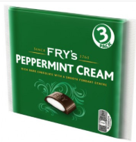 Fry's Peppermint Cream 3PK 18x147g [Regular Stock], Fry's, Chocolate Bar/Bag- HP Imports