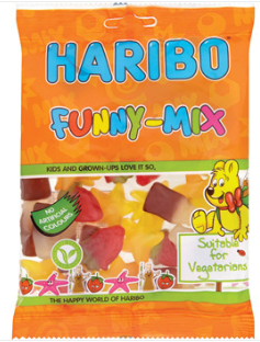 Haribo Funny Mix 12x140g [Regular Stock], Haribo, Bagged Candy- HP Imports