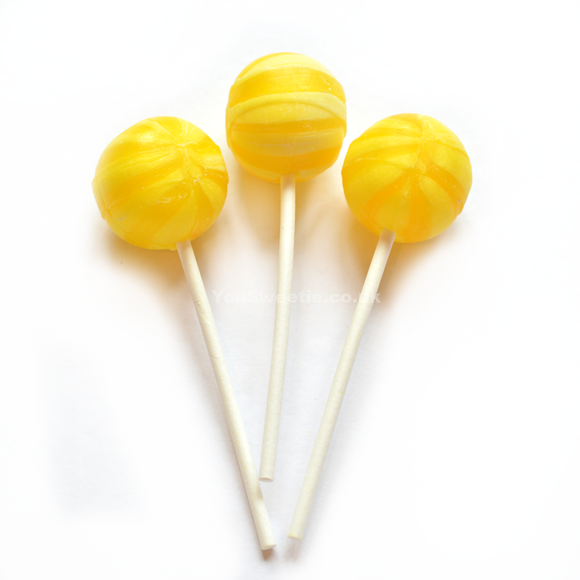 Gourmet Lollipop Co Sherbet Lemon Lollipops 70s [Regular Stock], Gourmet Lollipop Co., Bagged Candy- HP Imports