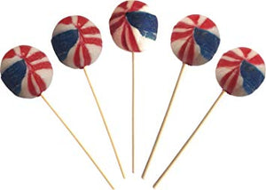 Gourmet Lollipop Co USA Cola Lollipops 70s [Regular Stock], Gourmet Lollipop Co., Bagged Candy- HP Imports