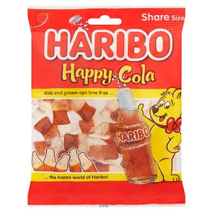 Haribo Happy Cola 12x140gm [Regular Stock], Haribo, Bagged Candy- HP Imports