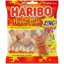 Haribo Happy Cola Zing (Fizzy Cola) 12*140gm [Regular Stock], Bagged Candy, Haribo, [variant_title],HP Imports British Wholesale Distribution