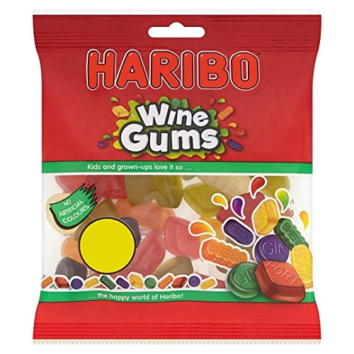 Haribo Wine Gums 12x140g [Regular Stock], Haribo, Bagged Candy- HP Imports