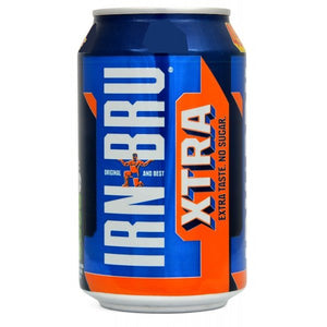 Barr's IRN-BRU XTRA Sugar Free (PM) 24x330ml [Pre-Order Stock] {BEST BEFORE DATE: 2020-06-30}, Barr's, Pop Cans- HP Imports