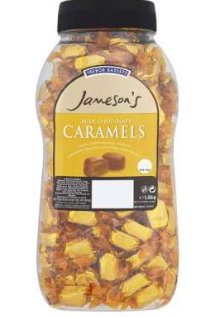 Jameson's Chocolate Caramels Jar 1.5Kg [Regular Stock], Jamesons, Bulk Candy- HP Imports