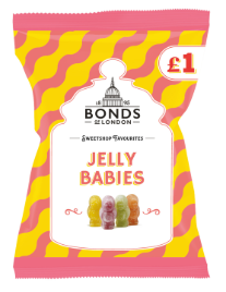 Bonds Jelly Babies (PM) 12*150g [Regular Stock], Bagged Candy, Bonds, [variant_title],HP Imports British Wholesale Distribution