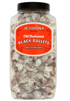 *Jesmmona Black Bullets Jar - 3 kg [Regular Stock], Bulk Candy, Jesmmona, [variant_title],HP Imports British Wholesale Distribution