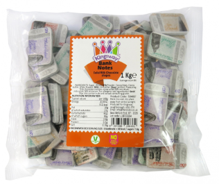Kingsway Milk Chocolate Bank Notes 1kg [Regular Stock], Kingsway, Bulk Candy- HP Imports