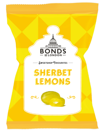 Bonds Sherbet Lemons Share Bags 12x150g [Regular Stock], Bonds, Bagged Candy- HP Imports