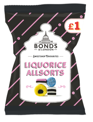 Bonds Liquorice Allsorts (PM) 12*150g [Regular Stock], Bagged Candy, Bonds, [variant_title],HP Imports British Wholesale Distribution