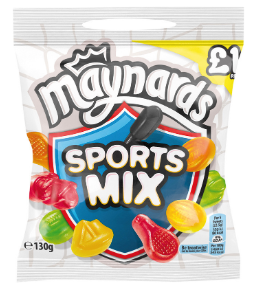 Maynards Bassetts Sports Mixture Bags 12x190g [Regular Stock], Maynards Bassetts, Bagged Candy- HP Imports