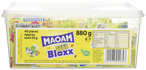 Maoam Sours Bloxx Tub 40s [Regular Stock], Maoam, Bagged Candy- HP Imports