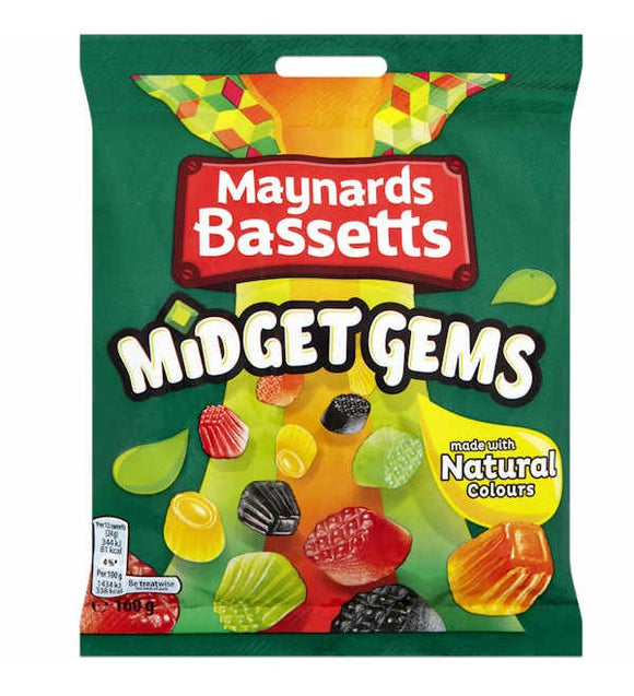Maynards Bassetts Midget Gems Bag 12*160g [Regular Stock], Bagged Candy, Maynards Bassetts, [variant_title],HP Imports British Wholesale Distribution