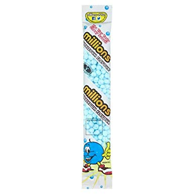 Millions Bubblegum Tube 12x60g [Regular Stock], Millions, Bagged Candy- HP Imports