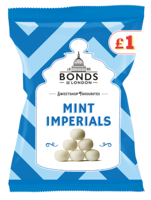 Bonds Mint Imperials (PM) Share Bags 12x150g [Regular Stock], Bonds, Bagged Candy- HP Imports