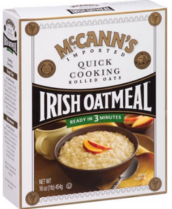 McCann's Quick Cook Irish Oatmeal 12x(16oz) 454gm [Regular Stock], McCann's, Cereal/Breakfast- HP Imports
