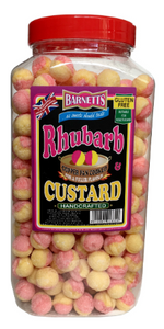 Barnetts Rhubarb & Custard Jar 3kg [Regular Stock], Barnetts, Bulk Candy- HP Imports