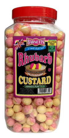 Barnett Rhubarb & Custard Jar 3kg [Regular Stock], Bulk Candy, Barnetts, [variant_title],HP Imports British Wholesale Distribution