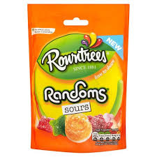 Rowntree's Randoms Sours 32x43g [Regular Stock], Rowntrees, Bagged Candy- HP Imports