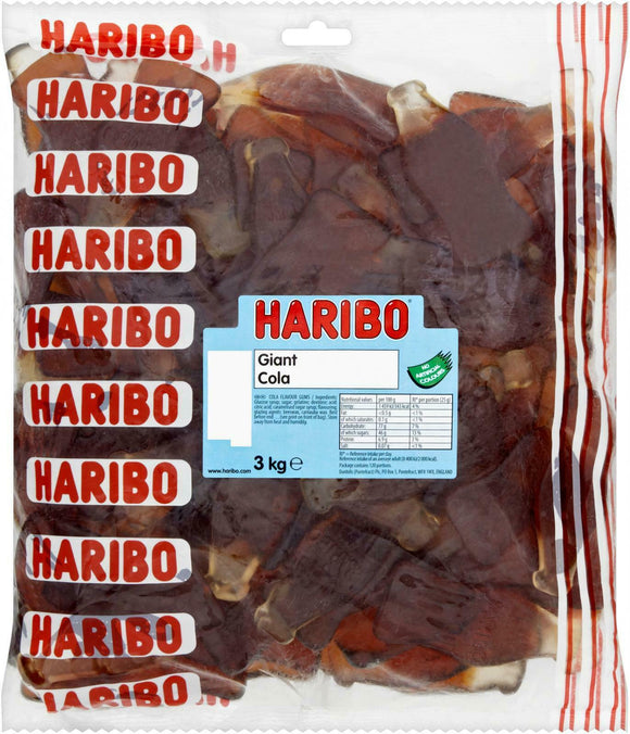 *Haribo Jumbo Cola Bottles 3 kg [Regular Stock], Bulk Candy, Haribo, [variant_title],HP Imports British Wholesale Distribution
