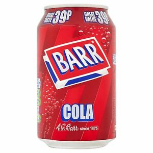 Barr Cola (PM) 24*330ml [Regular Stock], Pop Cans, Barr, [variant_title],HP Imports British Wholesale Distribution