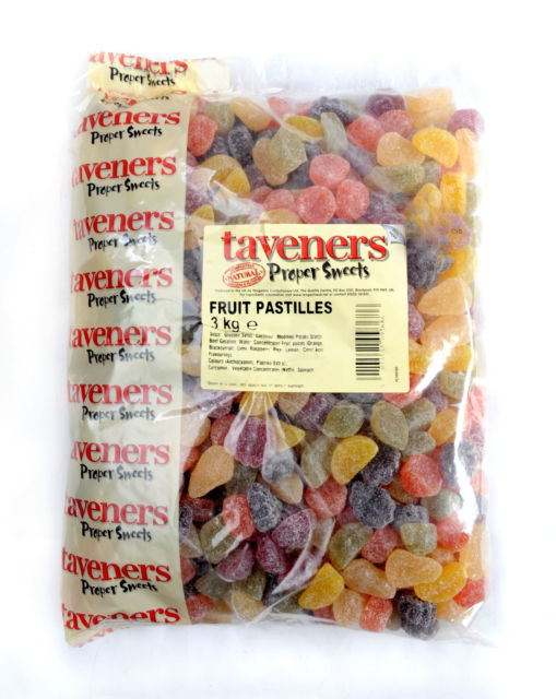 Taveners Fruit Pastilles 3kg [Regular Stock], Taveners, Bulk Candy- HP Imports