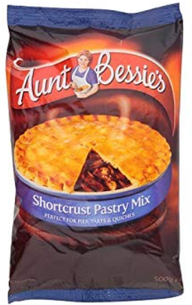 Aunt Bessie's Shortcrust Pastry Mix 6*500g [Regular Stock], Baking, Aunt Bessie, [variant_title],HP Imports British Wholesale Distribution