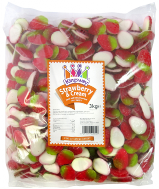 Kingsway Strawberries and Cream 3kg [Regular Stock], Kingsway, Bulk Candy- HP Imports