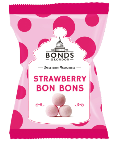 Bonds Strawberry bon bons 12*150g [Regular Stock], Bagged Candy, Bonds, [variant_title],HP Imports British Wholesale Distribution