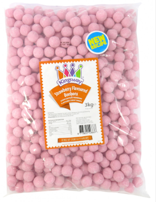 Kingsway Strawberry Bonbons 3kg [Regular Stock], Kingsway, Bulk Candy- HP Imports