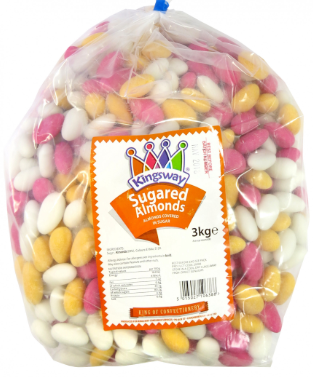Kingsway Sugared Almonds 3kg [Regular Stock], Kingsway, Bulk Candy- HP Imports