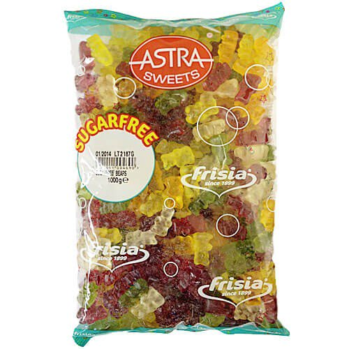 Astra Sugar Free Teddy Bears - 3 kg [Regular Stock], Bulk Candy, Astra, [variant_title],HP Imports British Wholesale Distribution