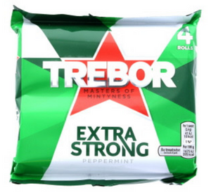 Trebor Extra Strong Mints Rolls 4PK 12x165.2g [Regular Stock], Trebor, Bagged Candy- HP Imports