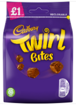 Cadbury Twirl Bites (PM) 10x95g [Regular Stock], Cadbury, Chocolate Bar/Bag- HP Imports