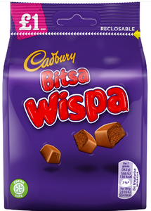 Cadbury Bitsa Wispa Pouch 10*95g [Regular Stock], Chocolate Bar/Bag, Cadbury, [variant_title],HP Imports British Wholesale Distribution