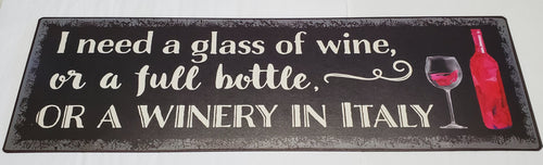 Wine Theme Plaque