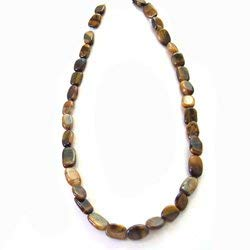 Tiger Eye Crystal Necklace with Clasp - 18 Inches