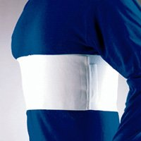 "Florida Orthopedics All Elastic Rib Belt, Male Sized, White, 6"" - Large 41-44"""