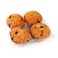 BLUEBERRY MUFFIN FRESH BAKED BAKERY PASTRY 4 CT
