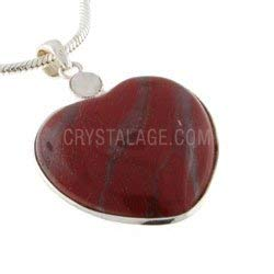 CrystalAge Red Jasper Two Stone Heart Pendant