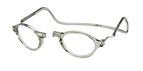 Clic Magnetic Classic Reading Glasses In Smoke +2.00
