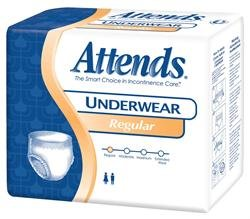 Attends APV20 Underwear Regular Absorbency - Medium (34-44 in.) (20/Pack)