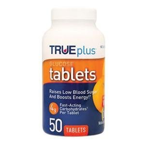Nipro Trueplus Glucose Tablets for Hypoglycemia (Orange, 50 Tabs)
