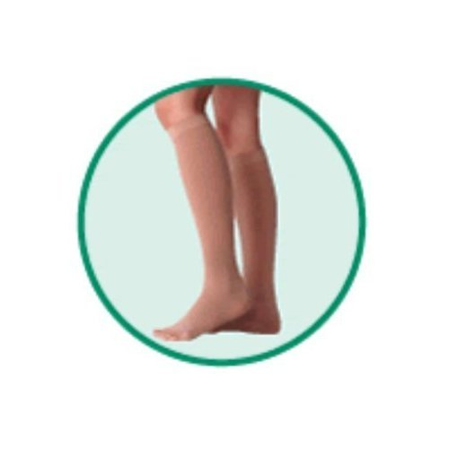 Varin Soft Below-Knee - Full Foot Stocking, Beige, Size 1, Extra Small, Compression 40-50 mmHg, 1 P