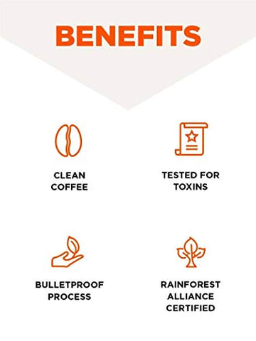 ã'â Bulletproof The Original Ground Coffee, Premium Medium Roast Gourmet Organic Beans, Rainforest A