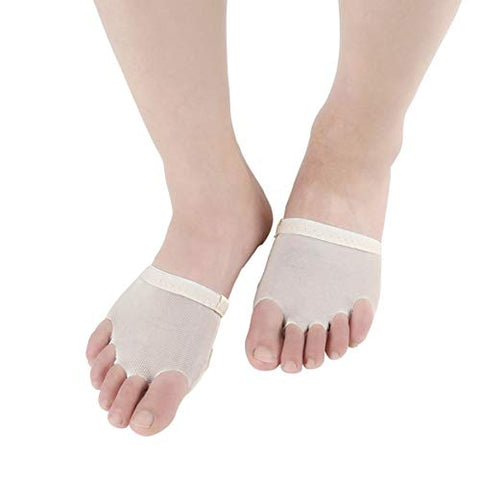 SUPVOX Ballet Forefoot Paws Dance Foot Thongs Half Foot Pads Cushion Dancing Socks for Ballet Belly Dance 1 Pair Size L